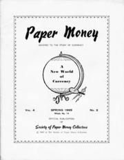 Paper Money (Spring 1965)