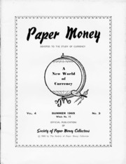 Paper Money (Summer 1965)