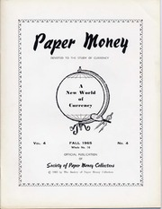 Paper Money (Fall 1965)