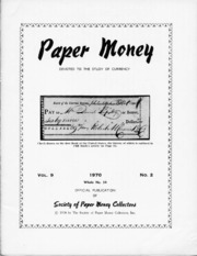 Paper Money (Second Quarter 1970)