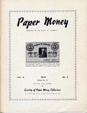 Paper Money (Third Quarter 1970)