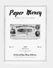 Paper Money (Fourth Quarter 1970)