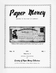 Paper Money (First Quarter 1971)
