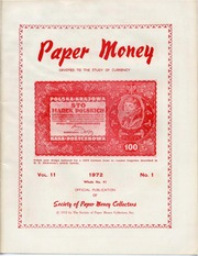 Paper Money (First Quarter 1972)