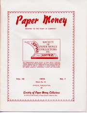 Paper Money (First Quarter 1973)