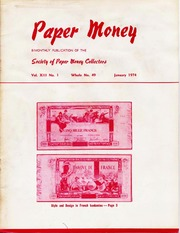 Paper Money (January 1974)