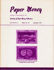 Paper Money (September 1974)