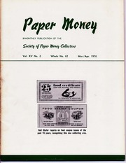Paper Money (March/April 1976)