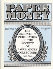 Paper Money (July/August 1984)