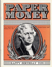 Paper Money (March/April 1987)