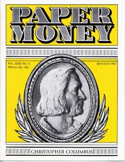 Paper Money (September/October 1992)