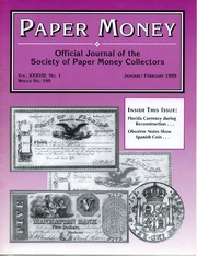 Paper Money (January/February 1999)