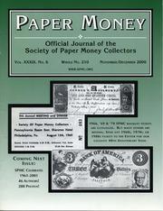 Paper Money (November/December 2000)