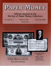 Paper Money (March/April 2003)