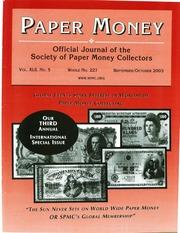 Paper Money (September/October 2003)