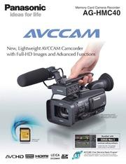 panasonic avccam ag hmc40 camcorder user manual panasonic free rh archive org Panasonic HMC-150 Panasonic AG Hmc40p