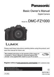 panasonic dmcfz1000 digital camera user manual panasonic free rh archive org panasonic camera owners manual panasonic lumix camera user manual