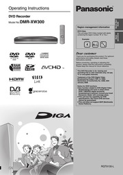 panasonic dmr xw300 dvd recorder user manual panasonic free rh archive org Panasonic DMR- EZ48V panasonic dmr xw300 manual pdf