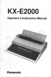 panasonic kx e2000 typewriter user manual panasonic free rh archive org Panasonic Typewriter KX E-4020 Panasonic Typewriter KX E-4020