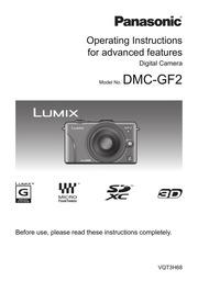 Panasonic LUMIX DMC-GF2 Digital Camera User Manual : Panasonic