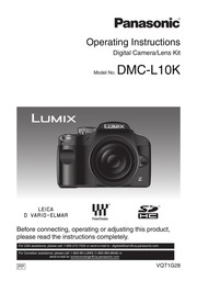 Panasonic Lumix DMC-L10K Digital Camera User Manual