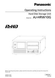 Panasonic P2HD AJ-HRW10G Computer Drive User Manual : Panasonic