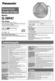 panasonic shockwave sl sw940 portable cd player user manual rh archive org ge spacemaker radio cd player user manual bose radio cd player user manual