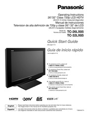 panasonic tc 32lx85 flat panel television user manual panasonic rh archive org Panasonic Cinema Vision HDTV Panasonic HDTV 1080I BBE