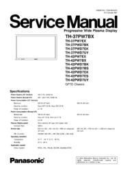 Panasonic th-42pz85u plasma hd tv service manual download downloa.
