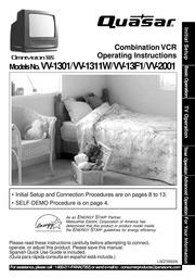 panasonic vv 1301 tv vcr combo user manual free download borrow rh archive org Quasar TV Television Quasar TV RCA