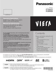panasonic viera tc 58ps24 flat panel television user manual free rh archive org panasonic viera owners manual panasonic tv owners manual model number