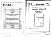 Papierformate: Die Dinformate und ihre Einführung in die Praxis