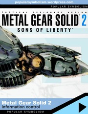 Popular Symbolism - Metal Gear Solid 2: Sons of Liberty