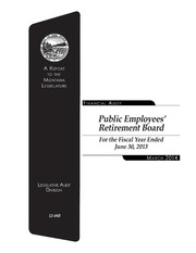 Vol 2013: Public Employees Retirement Board, Department of Administration, a component unit of the state of Montana : financial-compliance audit for the two fiscal years ended June 30, ..