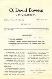 Q. David Bowers, Numismatist