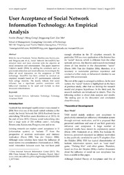 empirical analysis of internet user in An empirical analysis of user content we quantify how user mobile internet usage relates to unique generation and usage remains still an intriguing empirical.