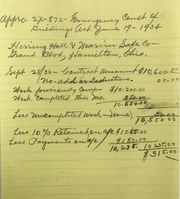 Miscellaneous Correspondence Relating Primarily to Building Construction Alterations & Inspections, 1935-1937.
