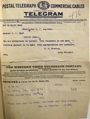 Telegrams from the Director of the Mint