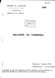 Rapport national - Grandes cultures - Maladies du tournesol - 1985