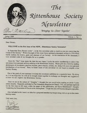 Rittenhouse Society Newsletter
