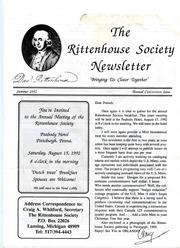 The Rittenhouse Society Newsletter