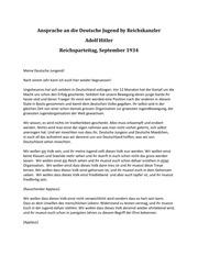 Rede An Die Deutsche Jugend