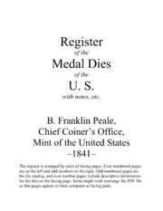 Register of the Medal Dies of the U.S.