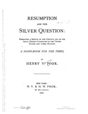 Resumption And The Silver Question