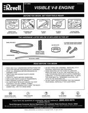 Revell Visible V8 Engine Kit Instructions : Revell : Free Download