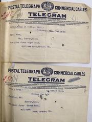 Telegrams from the Treasurer