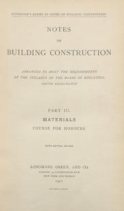 Notes on Building Construction Part 3, 5th ed : Rivingtons