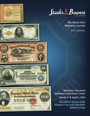 The March 2014 Baltimore Auction, U.S. Currency