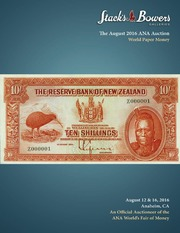 The August 2016 ANA Auction, World Paper Money