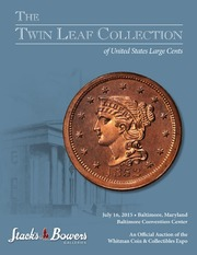 The Twin Leaf Collection of United States Large Cents